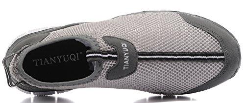 Vibdiv Men's Lightweight Casual Loafers Multisport Trainers Grey-t EGULSc