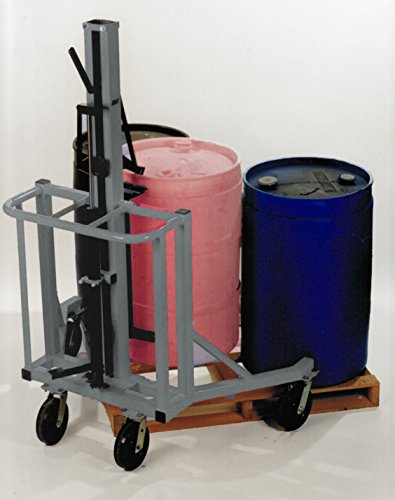 Drum Runner Model 4500P, Lifts and Moves Drums and Barrels Off a Pallet, 1500lb Lift Capacity, by Drum Runner