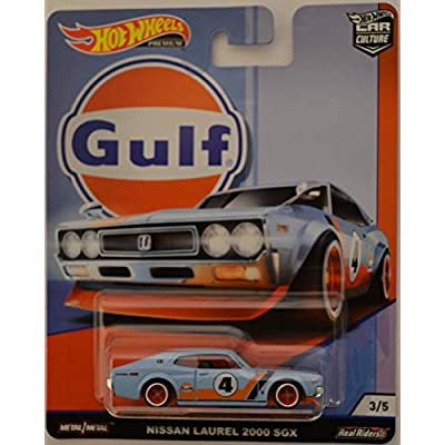 Hot Wheels Nissan Laurel 2000 SGX Blue 3/5 Limited Edition Car Culture Gulf Series 1:64 Scale Collectible Die Cast Model Car: Toys & Games