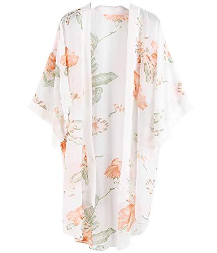 Outrip Women Swimsuit Bathing Suit Beach Cover up Chiffon Floral Kimono Cardigan