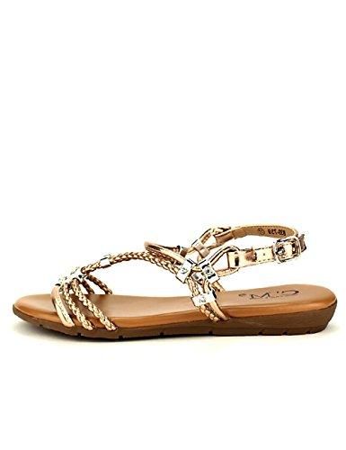 Cendriyon, Sandale Color Champagne C'm Chaussures Femme Bronze