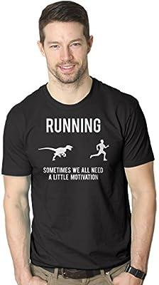 Running Motivation Raptor Shirt Funny Dinosaur Tee to Motivate Runners