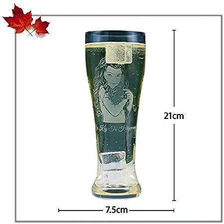 Copas de vino personalizadas Vasos de fotos Vasos de cerveza Grabado de imágenes y vasos de texto Aniversario de moda para(Estilo 3)