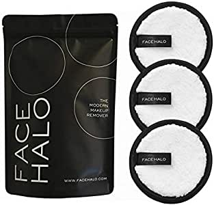 FACE HALO Makeup cleanser puff 3EA / Makeup cleanser ONLY USING WATER/no need chemical remover