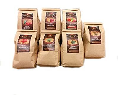 Lumber Jack BBQ 7 varieties BBQ Pellet Pack - 1 Lb. Bag - 100% (Apple, Cherry, Pecan, Hickory, Maple-Hickory-Cherry, Mesquite and Maple) - Shipped Priority Mail if Qty 1 by BBQ
