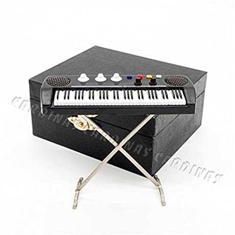 Odoria 1:12 Keyboards Electronic Organ Electone Musical Instrument Miniature Dollhouse (Musical Instrument Accessories)