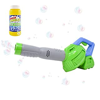 Maxx Bubbles Toy Bubble Leaf Blower with Refill Solution – Bubble Toys for Boys and Girls | Outdoor Summer Fun for Kids and Toddlers - Sunny Days Entertainment