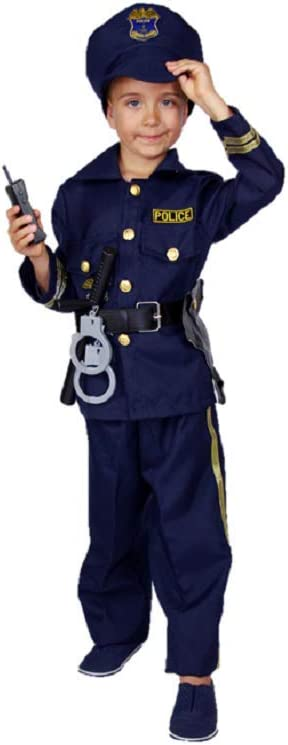 Matissa - Disfraz de oficial de policía para niños y niñas, talla ...