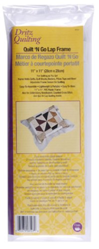 Dritz Quilting Quilt-N-Go Lap Frame, 11 by 11-Inch