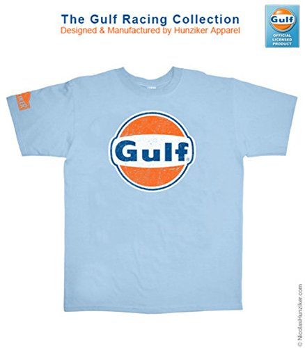 Gulf Racing Logo Graphic Tee-shirt by Nicolas Hunziker (SMALL)