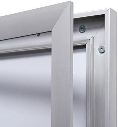 Bacheca 3 x A4 Alluminio Vetrina per poster e informazioni resistente alle intemperie adatta ad esterni