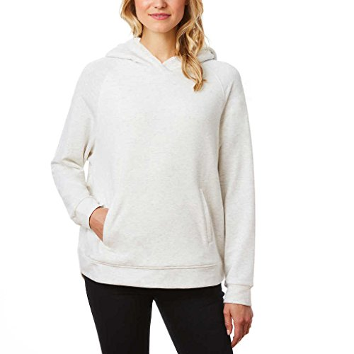 Weatherproof 32 Degrees Ladies Sherpa Lined Hoodie (X-Large, Cream)