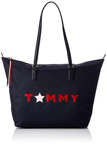 Tommy Hilfiger Poppy Tote Star - Borse a mano Donna, Noir (Tommy Star), 14x32x47 cm (W x H L)