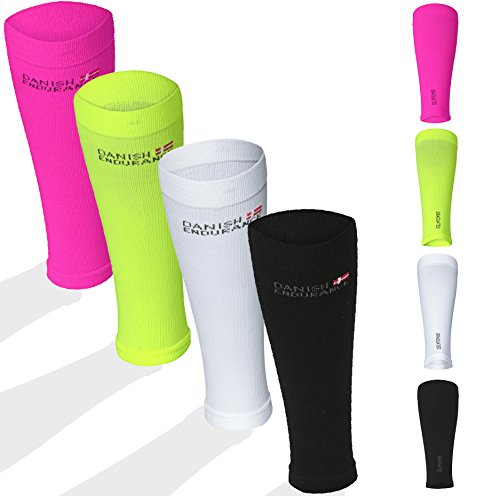 Graduated Calf Compression Sleeves (Small, Neon Pink)