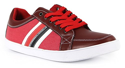 Giraldi Millad Herenmode Lage Sneakers Rood