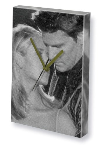 R & DAVID BOREANAZ - Canvas Clock (A5 - Signed by the Artist) #js002 (David Boreanaz Poster)