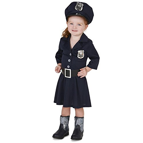 Police Girl Toddler Dress Up Costume 2-4T