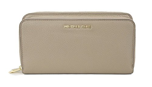 MICHAEL Michael Kors Adele Double-Zip Wallet (Dark Dune) by Michael Kors