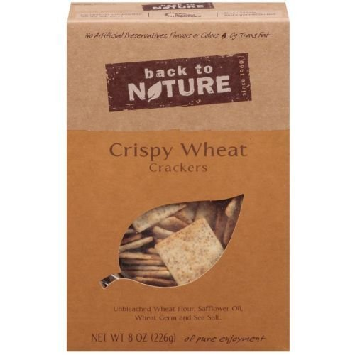 Back to Nature Crispy Wheat Cracker, 8 Ounce - 6 per case.