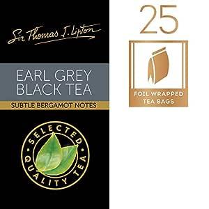 Sir Thomas Lipton Earl Grey Black Tea, 25 Foil Wrapped Bags