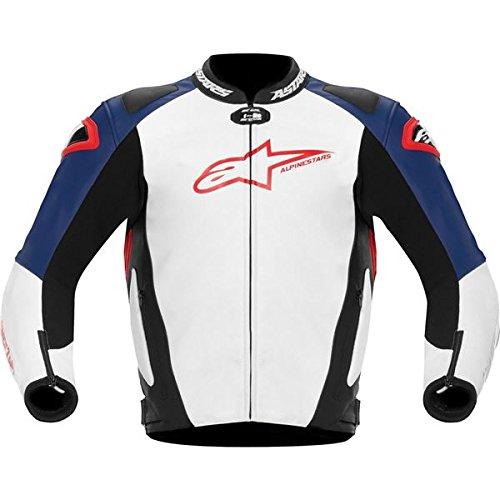 Alpinestars GP Pro Leather Jacket 2012 White Blue Red US 50 EU 60