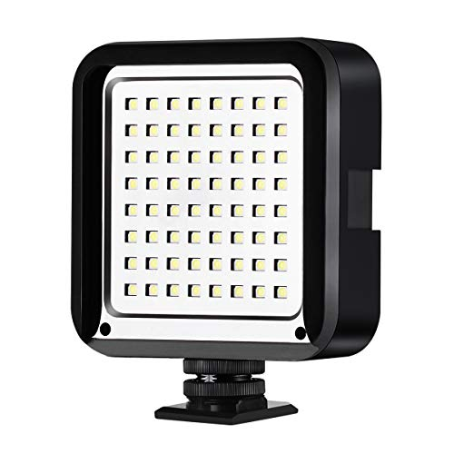 CofunKool Super Bright 64 LED Light Panel On Camera Light/Camcorder Video Light for Canon,Nikon,Panasonic,Sony,Samsung and Olympus Digital SLR Cameras (Battery NOT Included)