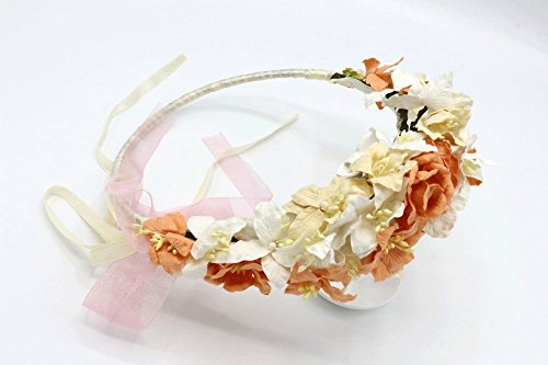 Miss Universe Pageant Costumes (Siam2u Flower crown hair, bridal crown, wedding headpiece, Rustic headpiece, bridal head piece)
