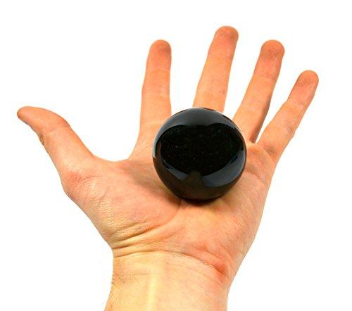 Jet Black Stone Crystal Aura Sphere, 2