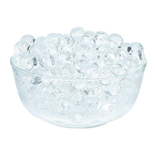 - 4000 Pcs Crystal Soil Water Beads Growing Magic Jelly Balls Bio Gel Wedding Casamento Vase Fillers (Transparent)