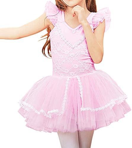 ZNYUNE Girls Kids Ballet Dress Princess Sparkly Ballet Leotards Tutu Girls Dancewear Costume