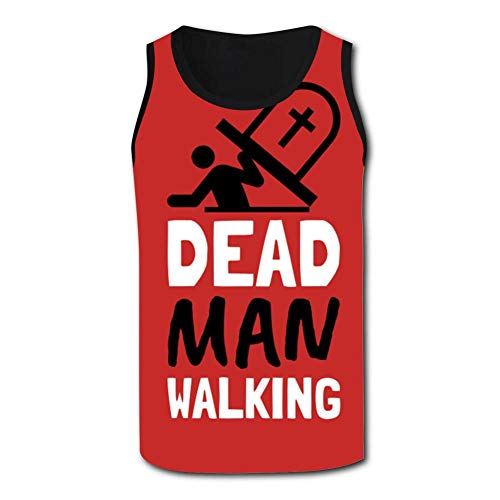 Dead Man Walking Men's Tank Tops 3D Printed Sleeveless T Shirts Workout Fitness Tank Top for Men