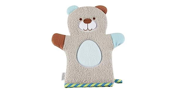 OUNONA Bebé guantes de baño Animal Puppet Wash Mitts Baby Shower Toalla Oso Diseño: Amazon.es: Salud y cuidado personal