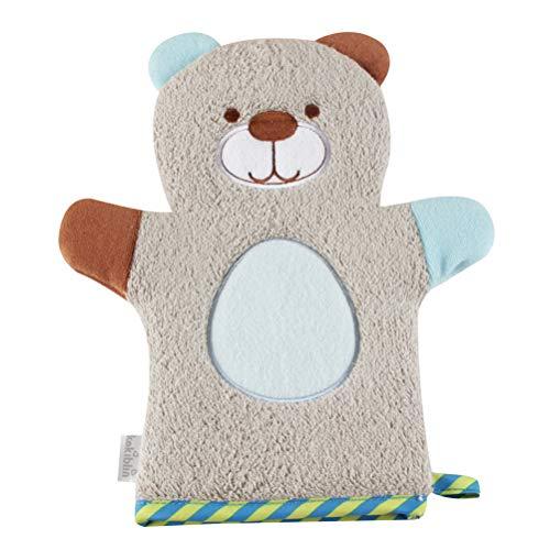 OUNONA Baby Cute Cartoon Bathing Gloves Wash Cloth Children Bathing Towel Animal Shape Bathing Towel (Bear)