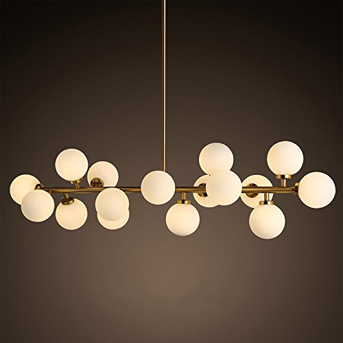 Glass Round Pendant Light in US - 3