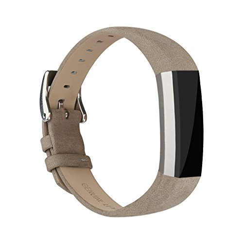 AK Bands for Fitbit Alta / Fitbit Alta HR 2017, Adjustable Comfortable Fitbit Alta / Alta HR Accessories Leather Wristbands for Fitbit Alta Bands