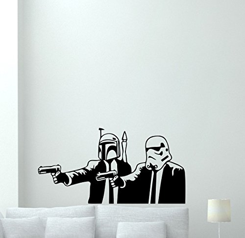 Star Wars Pulp Fiction Wall Decal Stormtrooper Vinyl Sticker Movie Cartoons Boy Kids Wall Art Nursery Decor Mural 74bar (Pulp Fiction Star Wars Poster)