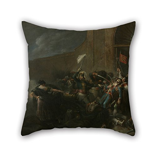 [Oil Painting Leonardo Alenza - The Death Of Daoíz In Monteleón Artillery Ground Pillowcover 16 X 16 Inches / 40 By 40 Cm For Boys,festival,dinning Room,car,birthday,bench With Twin] (Thomas The Train Costume Walmart)