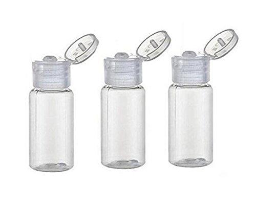 12 recipientes vacíos de plástico transparente de 15 ml con tapa para botella de viaje, ideal para maquillaje, vacíos,...