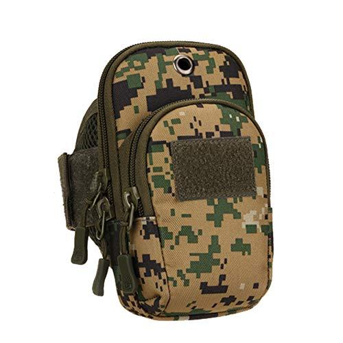 U-WARDROBE Running Mobile Arm Bag Camouflage Equipment Arm Bag Fitness Mobile Phone Bag Tactical Arm Bag Outdoor Sports Arm Bag. ACU Digital
