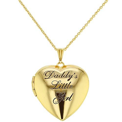 In Season Jewelry Children's Heart Photo Locket Pendant Necklace Daddy's Little Girl 19