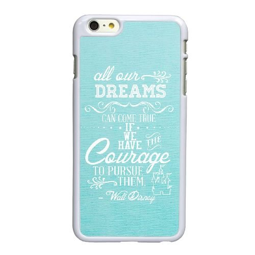 Disney Quotes iPhone 6 6S 4,7-Zoll-Handy-Fall hülle weiß V5W8CMSPUQ