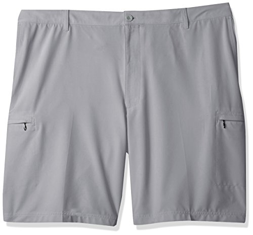 IZOD Men's Big and Tall Golf SwingFlex Cargo Short, Cinder Block, - Shorts And Tall Big Golf