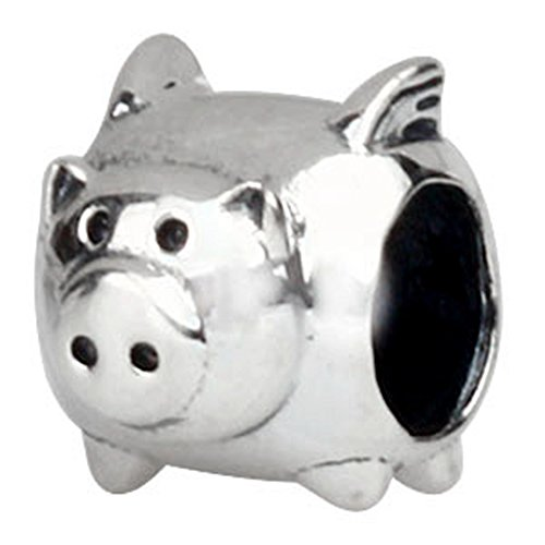Pig Bead Charm 925 Sterling Silver Animal Beads fit for Women Charms Bracelets