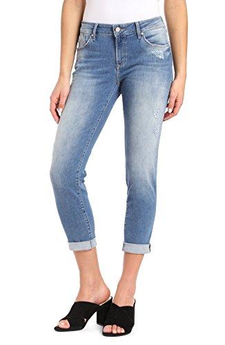 In Mavi Jeans Worn (Mavi Emma Indigo Ripped Nolita, Blue, 32W X 30L)