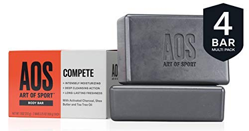 Art of Sport Body Bar Soap (4-Pack), Compete Scent, with Activated Charcoal, Tea Tree Oil, and Shea Butter, 3.75 oz Black Friday Deals 2019