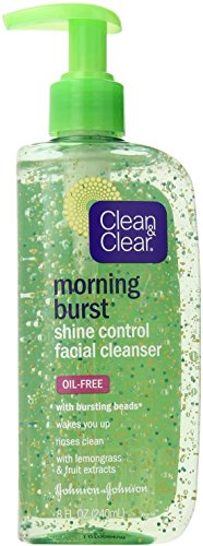 CLEAN & CLEAR Morning Burst Shine Control Facial Cleanser Oil-Free 8 oz (Pack of 2)
