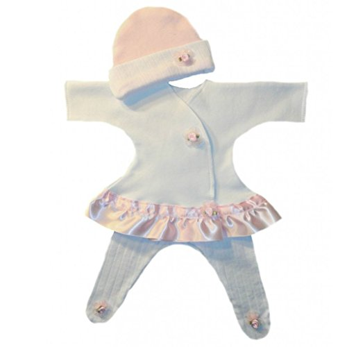 Jacqui's Baby Girls' Pretty Pink Rose Sassy Dress, Small Newborn