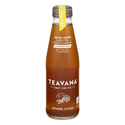 Teavana Craft Iced Tea - 6 Glass Bottles (Black Tea Meyer Lemon Unsweetened)