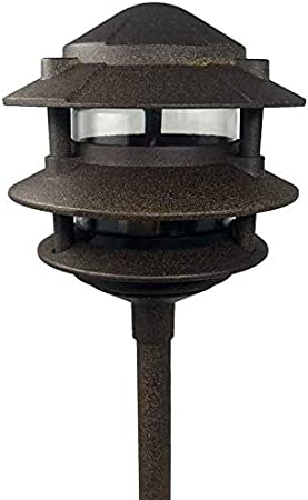 Amazon Com Aqlighting Cast Aluminum 3 Tier Pagoda For Driveway