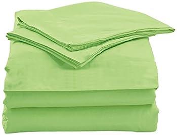 Home Simplicity 75GSM Deep Pocket, 3 Piece Bed Sheet Set, Twin, Light Green